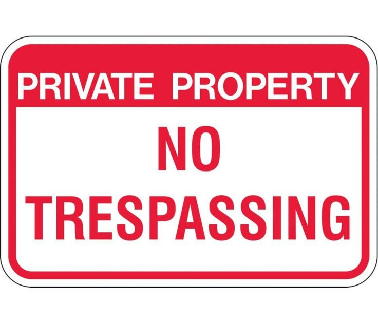 ZING 2499 Eco Sign, Private Property No Trespassing, 18Hx12W, High Intensity Prismatic, Recycled Aluminum