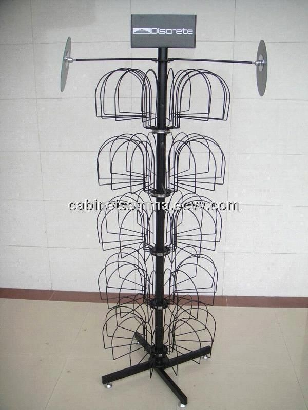Floor Standing Metal Hat Display Floor Display Retail