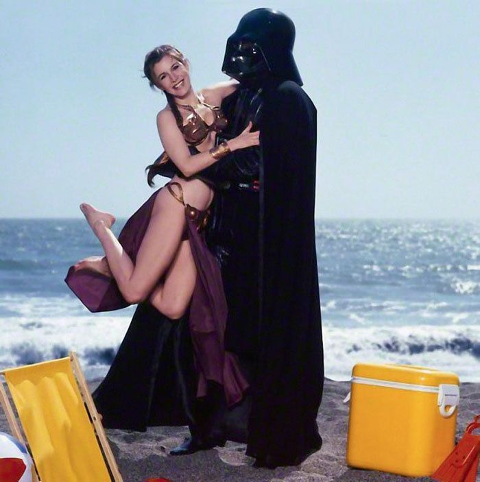 Una sesión de fotos de Carrie Fisher como Leia en la playa arrasa en Internet