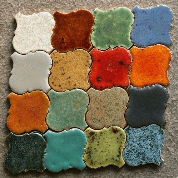Moroccan Ceramic Tiles by HerbariumCeramics on Etsy
