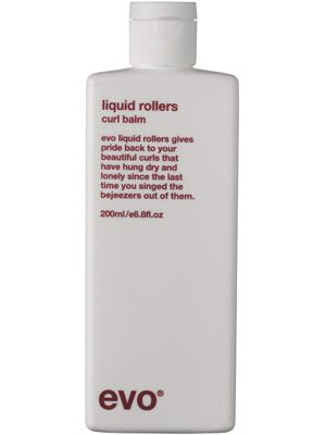 Evo Liquid Rollers Curl Balm shapes curls and prevents frizz
