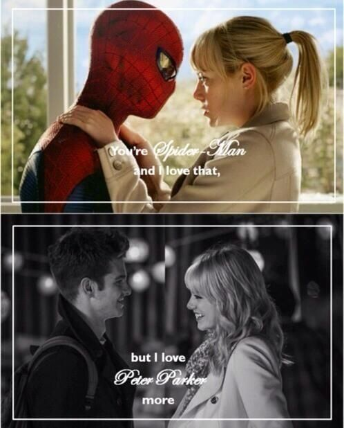 The Amazing Spider-Man / The Amazing Spider-Man 2 Peter and Gwen - Visit to grab an amazing super hero shirt now on sale!