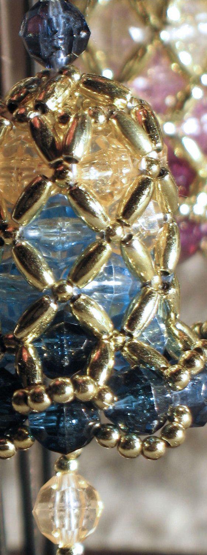 62 best Beaded Ornament Bells images on Pinterest  Beaded