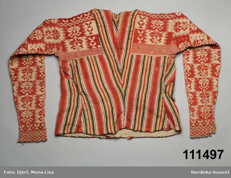 Old Swedish traditional sweater from the Hälsingland region | Digitalt Museum - Tröja