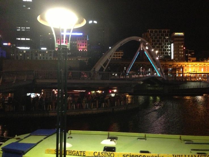 Southbank views at night