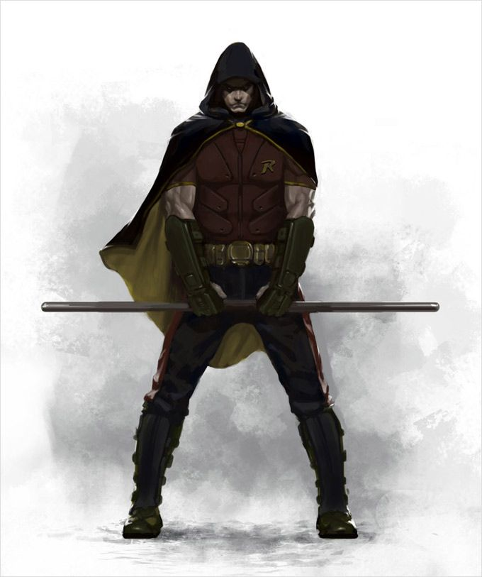 Robin - like you've never seen him before  (Batman Arkham cityscape  concept art)