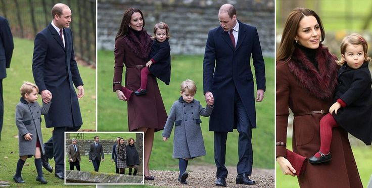 Prince George and Princess Charlotte join their parents for church in Bucklebury
