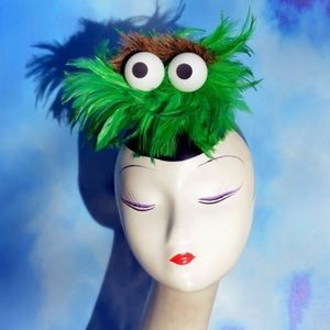 Fab Hatters - Blue Cookie Monster Costume Fascinator Hat from N.m. ...