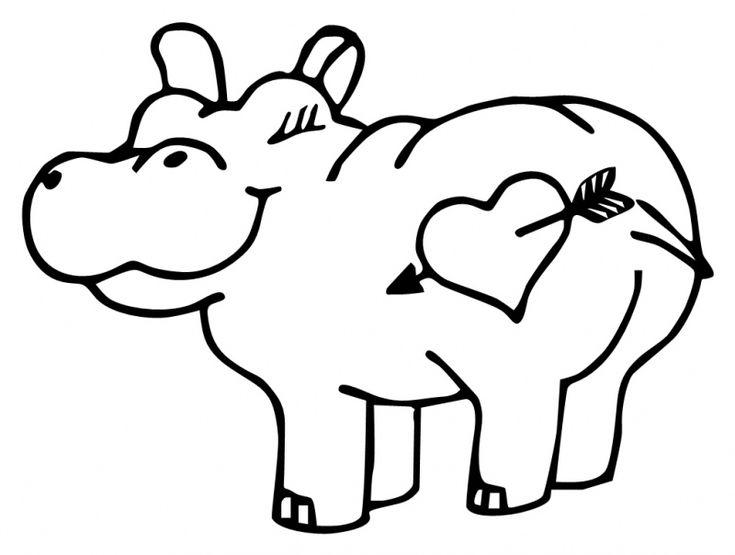cute hippo drawing