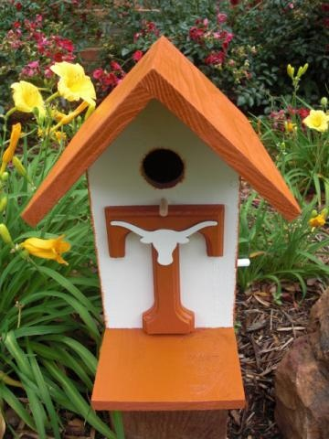 UT Longhorn Birdhouse (must make this for my Daddy)