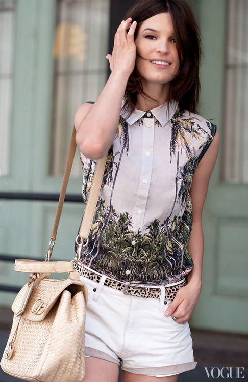 : Fashion, Leopard Print, Hanneli Black Beard, Street Style, Outfit, White Short, Shirt