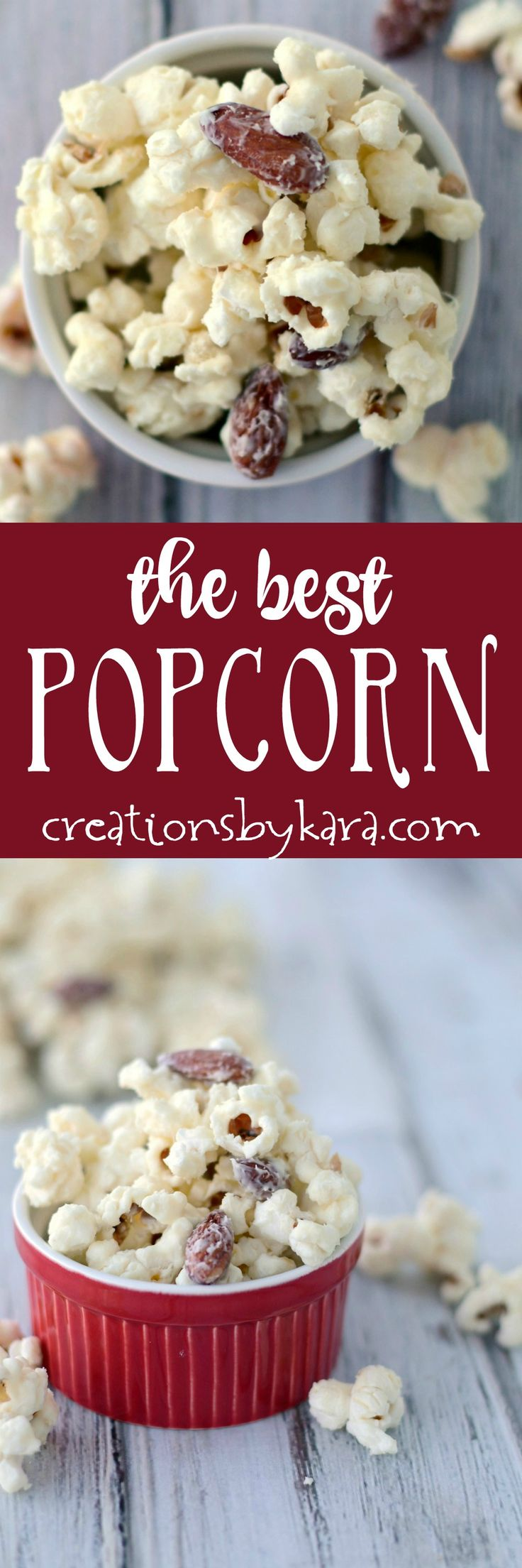 White Chocolate Popcorn takes about five minutes to make, and it is absolutely addicting! The best popcorn ever! An easy snack that no one can resist.