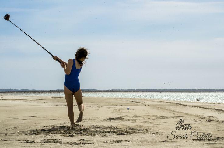 #BeachBum, golf day at farm beach