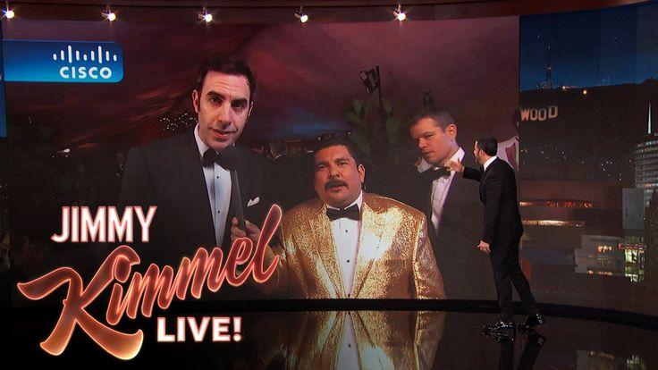 Sacha Baron Cohen and the Idiot Matt Damon LIVE from the Governor's Ball