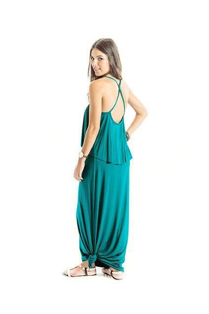 Teal Maxi , Back View