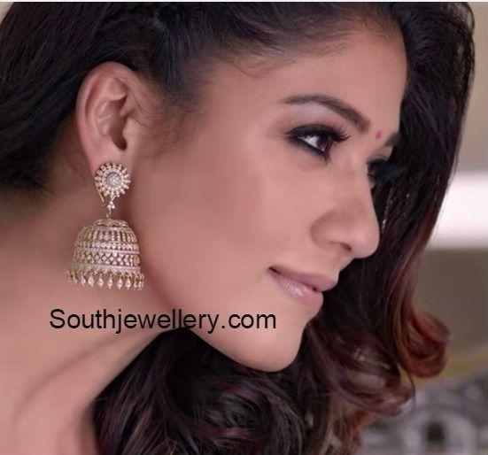 nayanthara_diamond_jhumkas