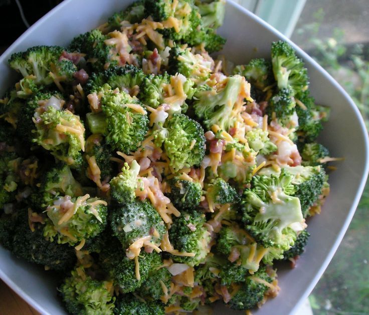 Paula Dean's Broccoli Salad (without the tomatoes)