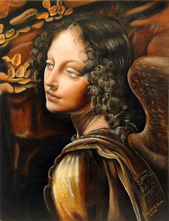 Leonardo - Detail of the Angel of the Rock