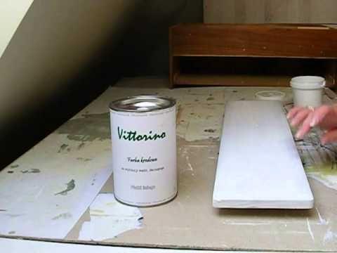 Malowanie frontów kuchennych farbą kredową Vittorino - cz.1 - YouTube