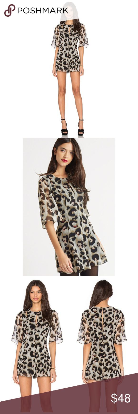 "🆕 BCBGeneration Romper New with tags! BCBGeneration Olive Leopard Romper...Play up your ferociously chic style with this animal print romper...Round neckline...Elbow-length flutter sleeves...Princess seaming...Slash cutouts at shoulders...Short-length inseam, 2,5""...Concealed back zipper with hook-and-eye closure...Self: Polyester georgette...Lining: Polyester crepe de chine...Machine Wash. Size 2. Retail $108 BCBGeneration Pants Jumpsuits & Rompers"