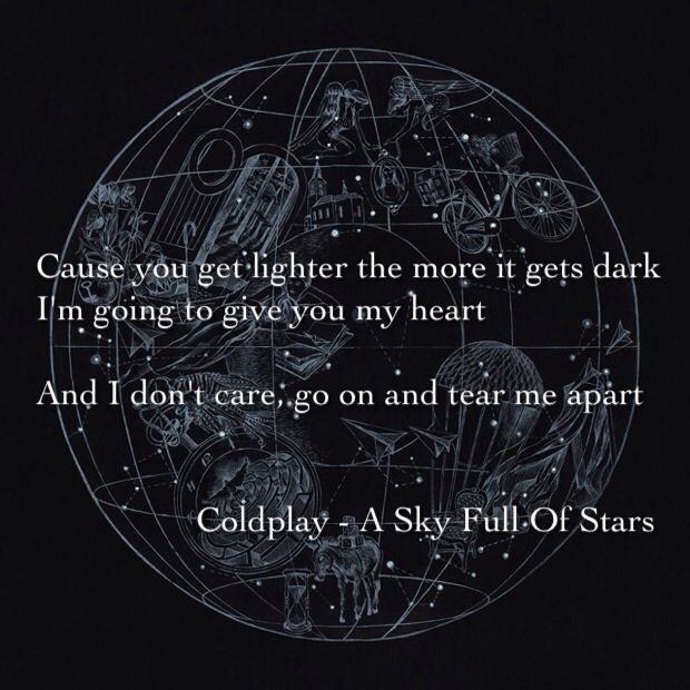 A sky full of stars. Coldplay