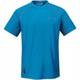 Vaude T-Shirt Roseg Shirt. Droog vanaf het begin: aangenaam elastisch T-shirt van Polartec Power Dry, dat dankzij de gepatenteerde twee-componenten weefconstructie de huid ook tijdens het zweten droog houdt. #herenmode #zomercollectie #zomerkledingheren #zomerkleding