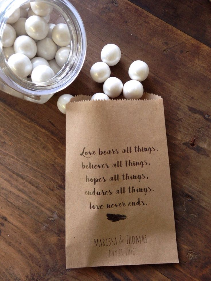 Items Similar To Wedding Cookie Bags Rustic Scripture Candy Buffet Sacks Custom Favors 25 Recycled Brown Paper Personalized Printed Sack On