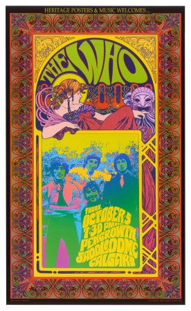 vintage stylye rock posters | The Who in Concert Posters by Bob Masse - AllPosters.co.uk