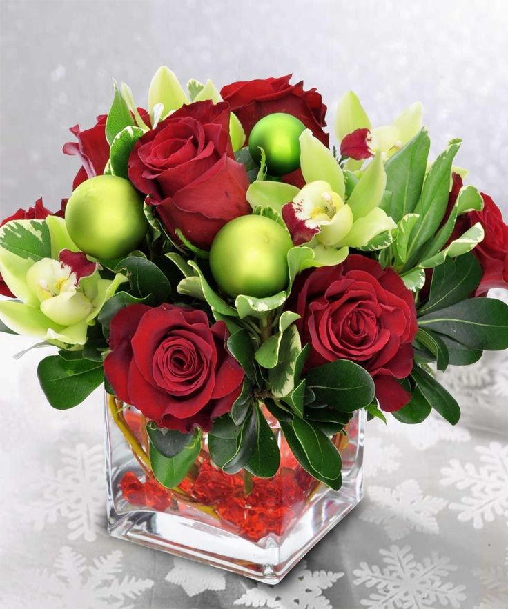 , Christmas flower arrangement
