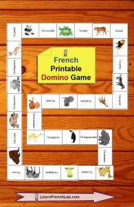Great domino game to learn French animals. http://www.learnfrenchlab.com