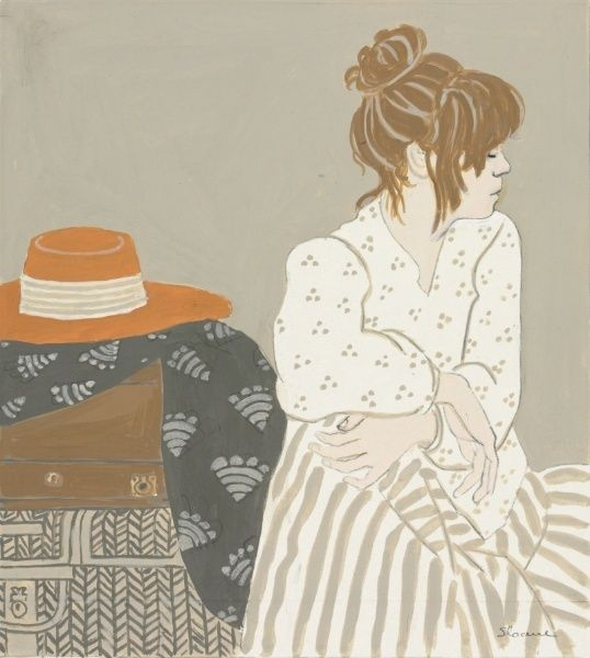 The Straw Hat. Phyllis Sloane. Collection CMA