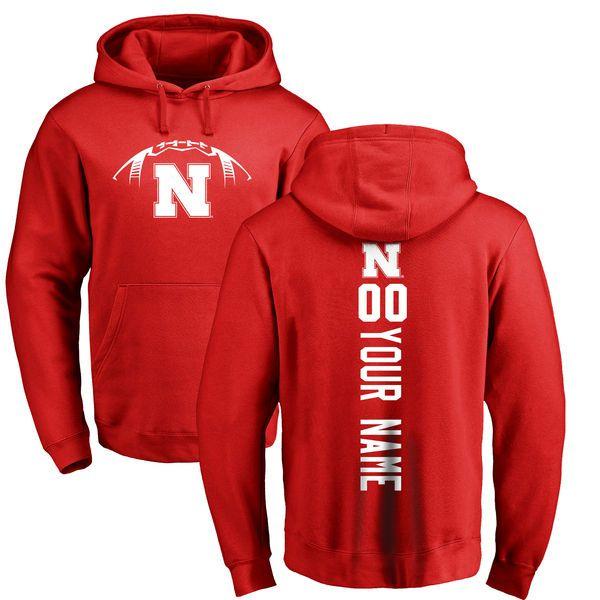 Nebraska Cornhuskers Football Personalized Backer Pullover Hoodie - Scarlet - $69.99