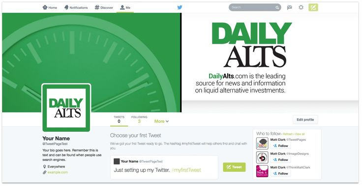 Daily Alts Twitter Design - by TweetPages.com #TweetPages