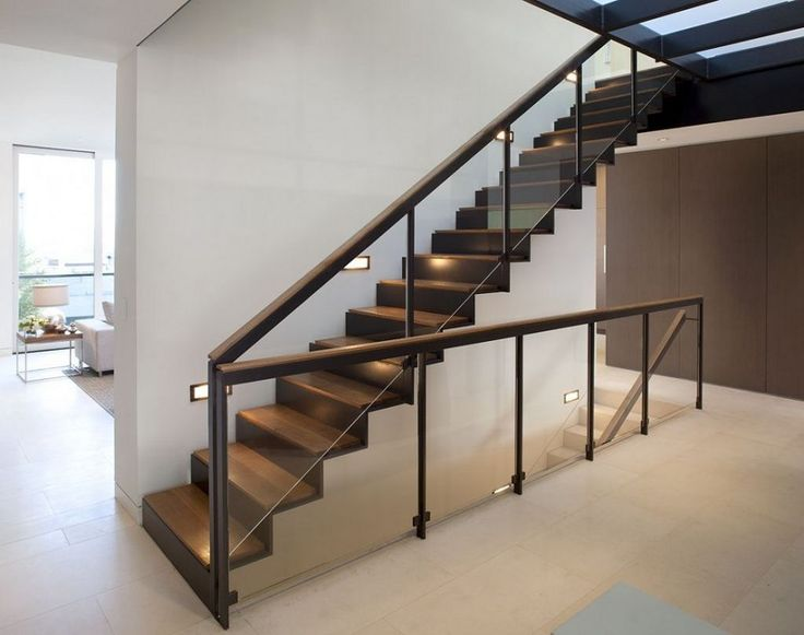 Interior Magnificent Staircase Design For Homes Fantastic Dark Brown With Nifty Glass Railing