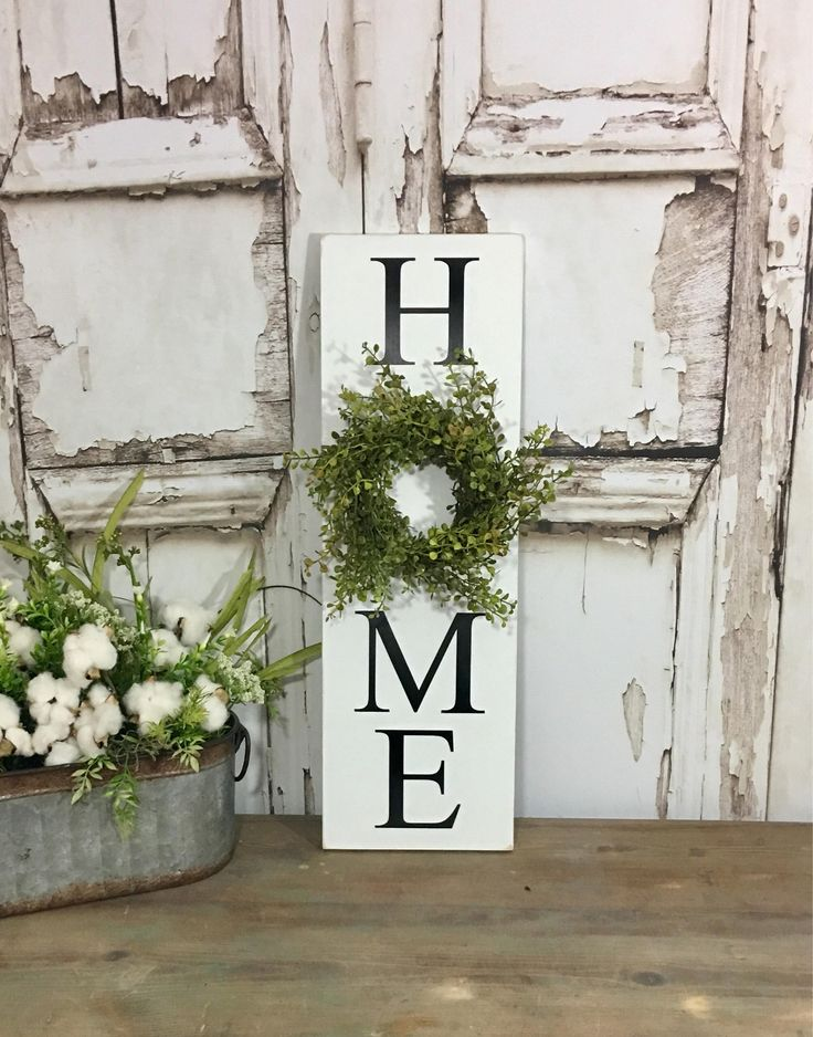 Home Sign With Wreath Sign With Wreath Baby Grass Wreath
