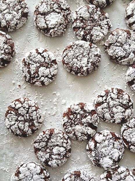 Peppermint Crinkle Cookies from BakersRoyale