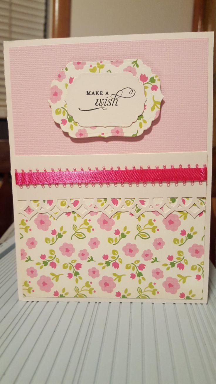 Make A Wish Handmade Card by SimoneSaysCardShop on Etsy