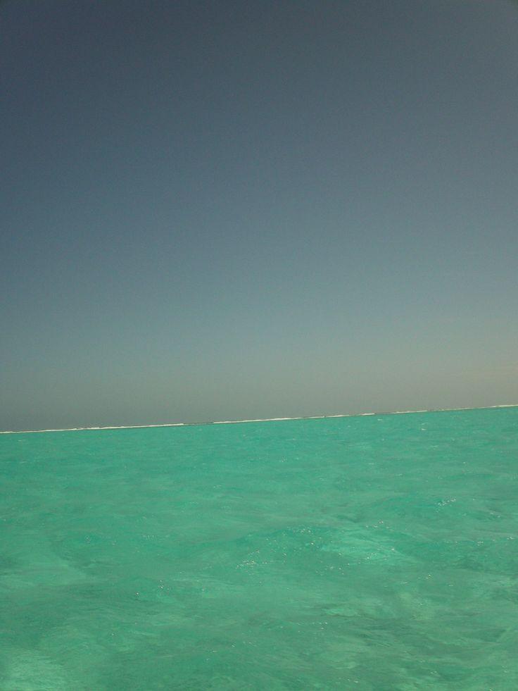 Donde termina el mar y empieza el cielo.