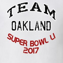 Team Oakland Super Bowl 51 2017 Football Fan Worn Look Sports  T Shirt