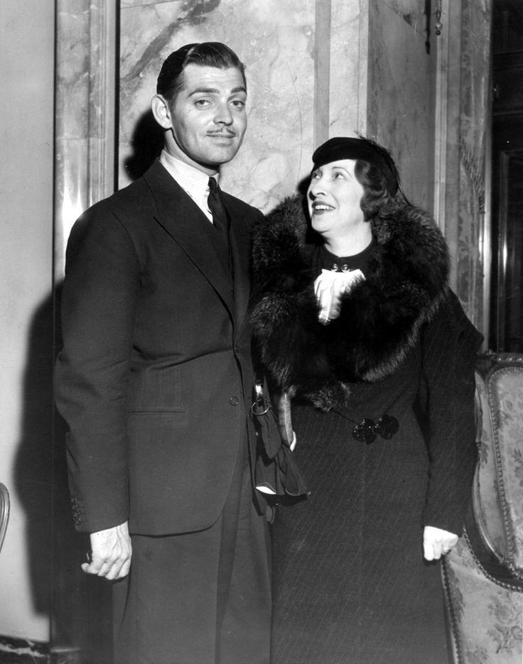 Clark Gable with wife Rhea Langham