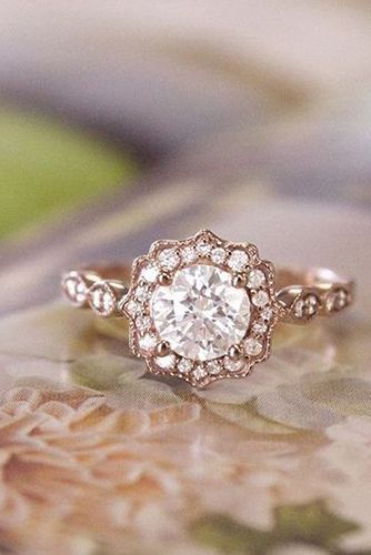 The 25 best Rose gold engagement ring ideas on Pinterest