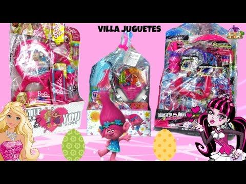 (1305) Canastas de Pascua de Trolls, Barbie y Monster High - YouTube