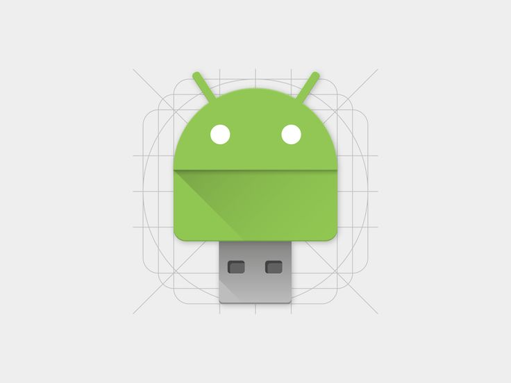 Android File Transfer Material Icon