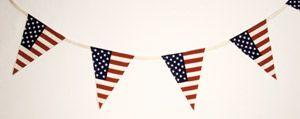 Guirlande de fanions drapeau américain