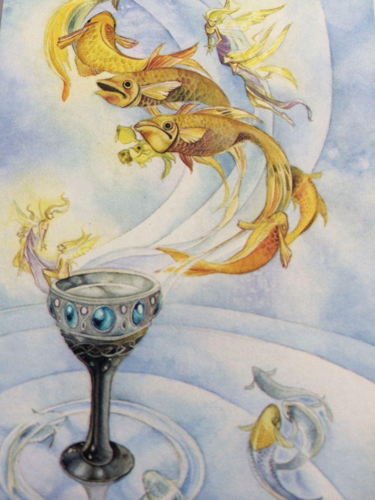 Туз чаш. Золотая рыбка. Картина на удачу