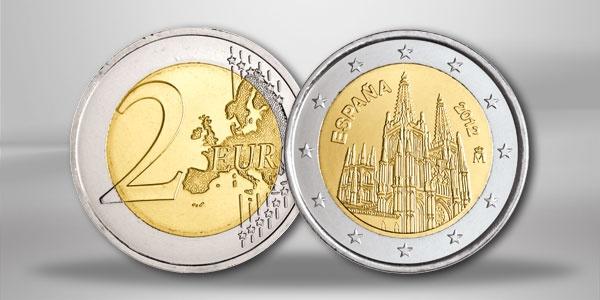 Spanien 2 Euro Sondermünze Kathedrale von Burgos 2012
