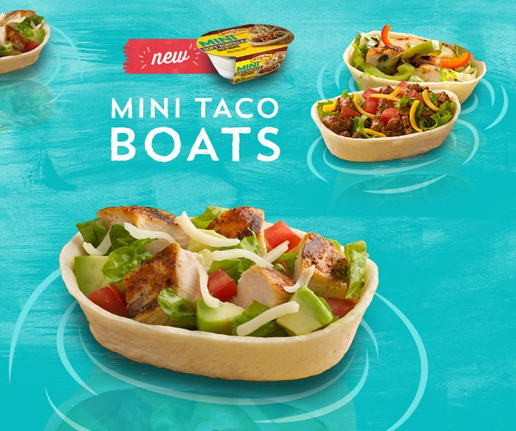 New! Old El Paso Mini Soft Tortilla Taco Boats. Fill them anyway you like- on this boat, you're the captain!