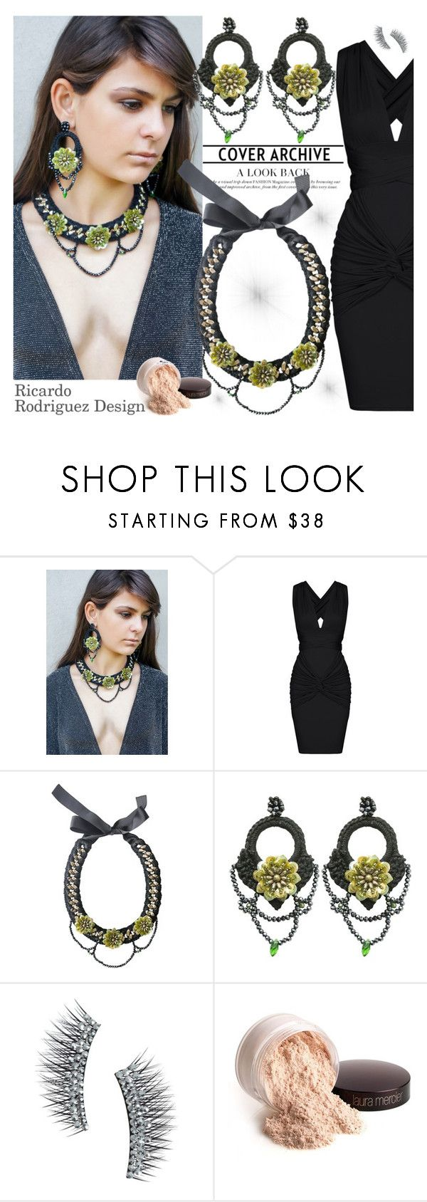 """""""Ricardo Rodriguez Design"""" by gaby-mil ❤ liked on Polyvore featuring Kre-at Beauty, Laura Mercier, jewelry and ricardorodriguezdesign"""