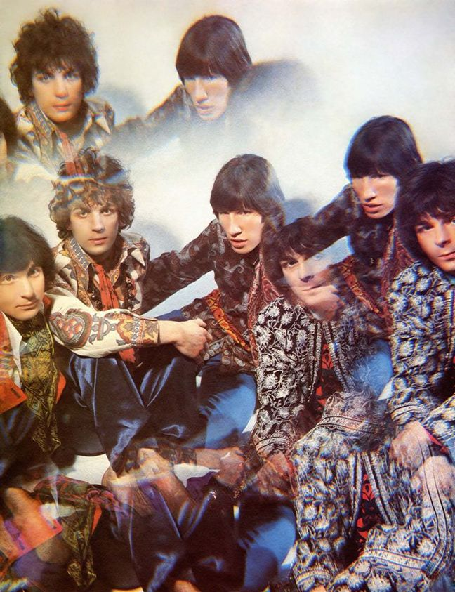Pink Floyd, dressed in Thea Porter for the cover of The Piper At The Gates Of Dawn, 1967 by Vic Singh.