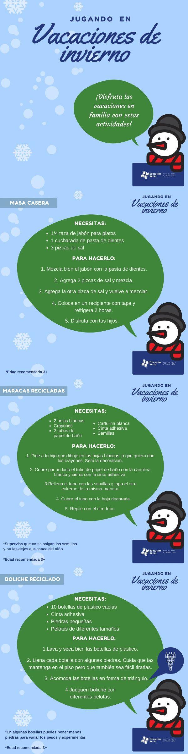 ¿Buscando #actividades para las #Vacaciones? #Niños #Juegos #Reciclados #Juguetes